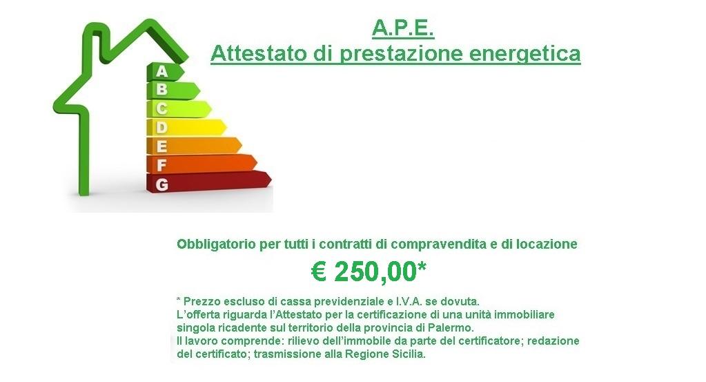 Attestato di prestazione energetica (APE) a Palermo